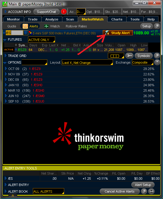Tutorial: Creating Study Alerts and Auto-Trades in Think or